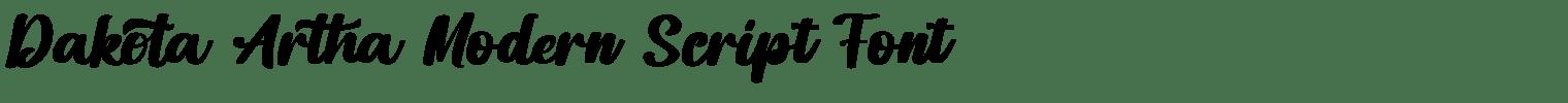 Dakota Artha Modern Script Font