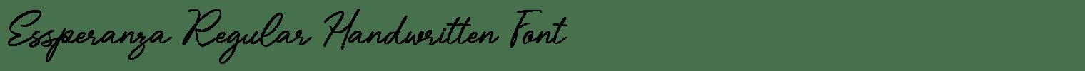 Essperanza Regular Handwritten Font