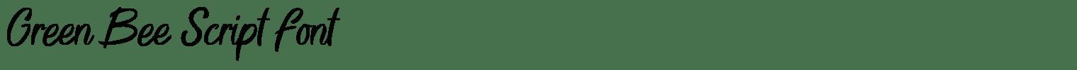 Green Bee Script Font