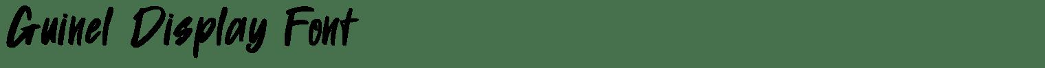Guinel Display Font