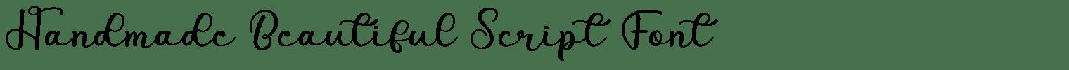 Handmade Beautiful Script Font