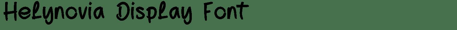 Helynovia Display Font