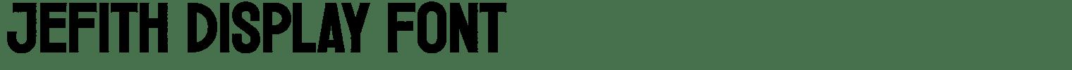 Jefith Display Font