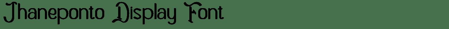 Jhaneponto Display Font