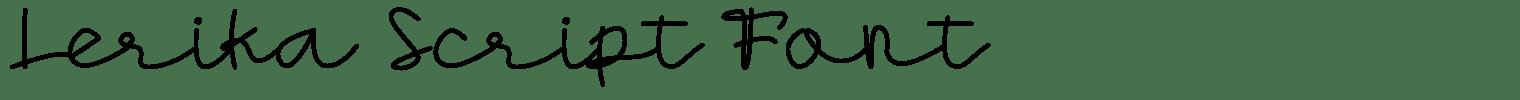 Lerika Script Font