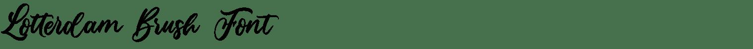 Lotterdam Brush Font