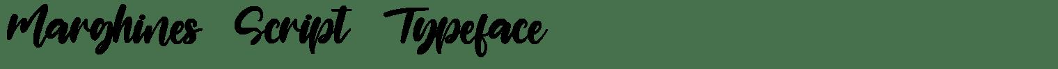 Marghines Script Typeface
