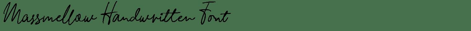 Massmellow Handwritten Font