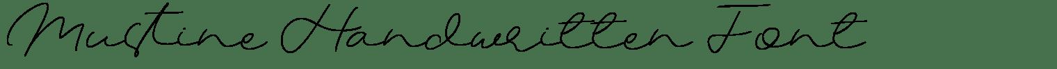 Mustine Handwritten Font