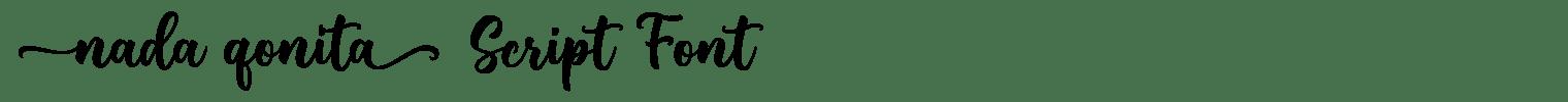 Nada Qonita Script Font