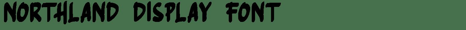 NORTHLAND Display Font