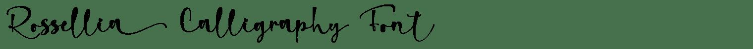 Rossellia Calligraphy Font
