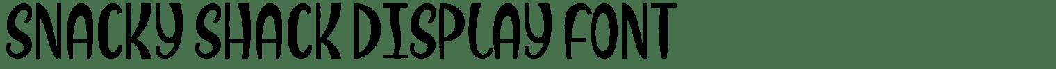 Snacky Shack Display Font