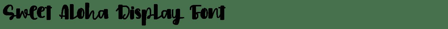 Sweet Aloha Display Font