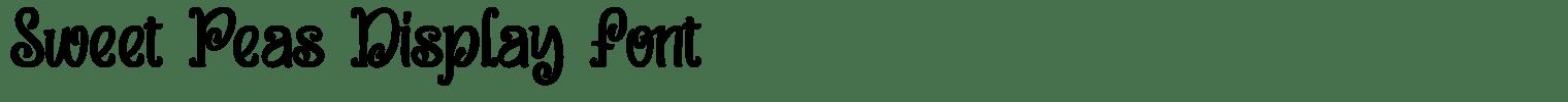 Sweet Peas Display Font