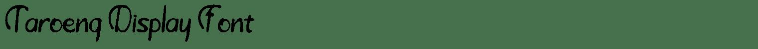 Taroeng Display Font