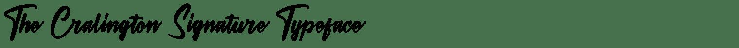 The Cralington Signature Typeface