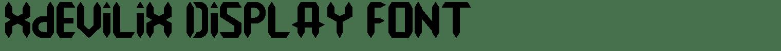 Xdevilix Display Font