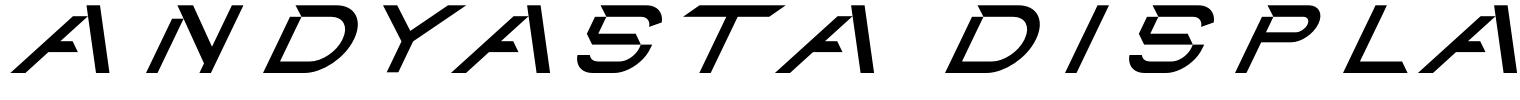 Andyasta Display Font