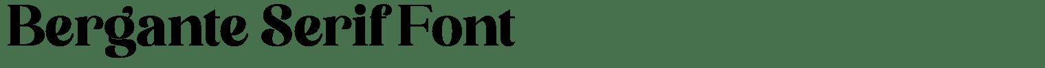 Bergante Serif Font