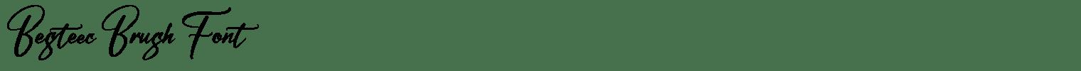Besteec Brush Font