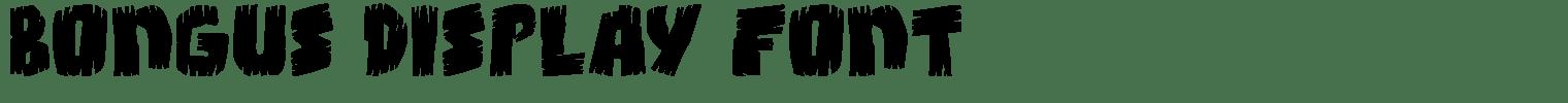 Bongus Display Font