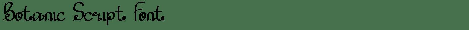 Botanic Script Font