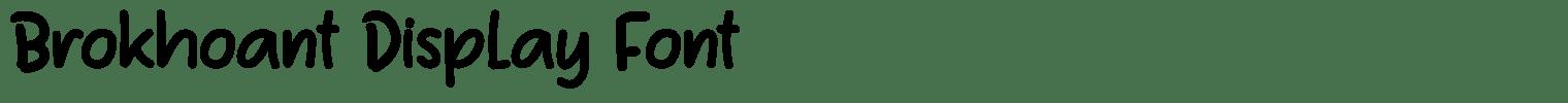 Brokhoant Display Font