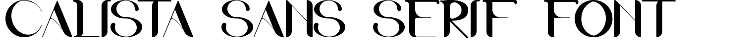 Calista Sans Serif Font