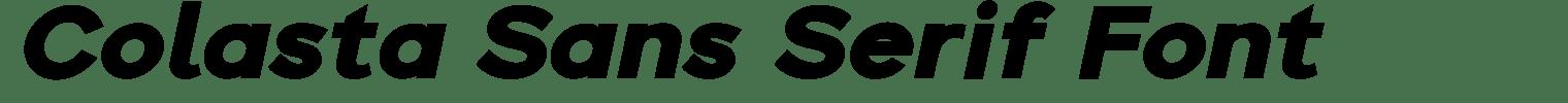 Colasta Sans Serif Font