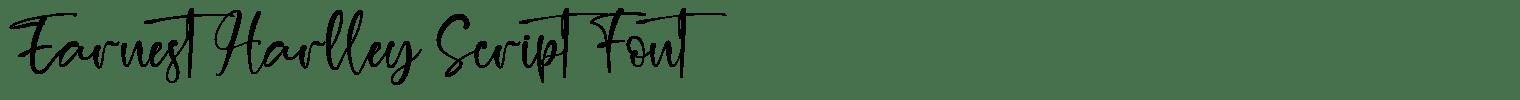 Earnest Harlley Script Font