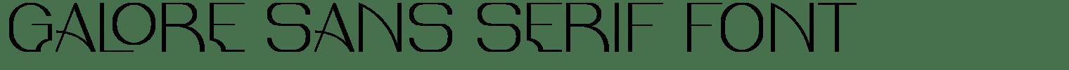 Galore Sans Serif Font