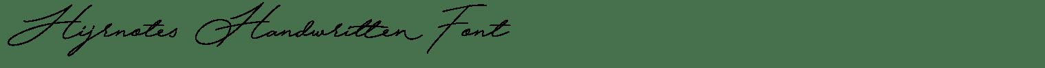 Hijrnotes Handwritten Font