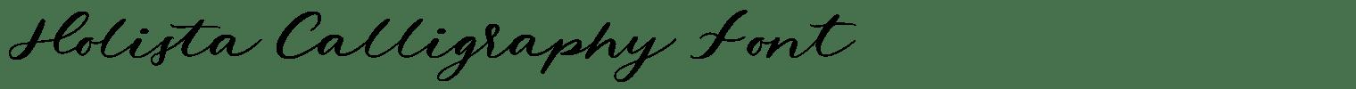 Holista Calligraphy Font