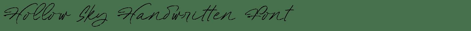Hollow Sky Handwritten Font