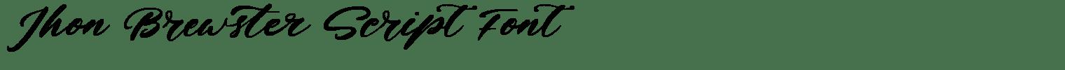 Jhon Brewster Script Font