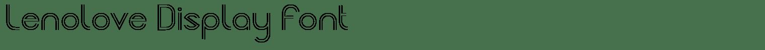 Lenolove Display Font