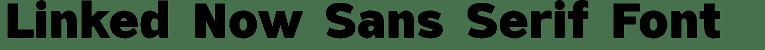 Linked Now Sans Serif Font