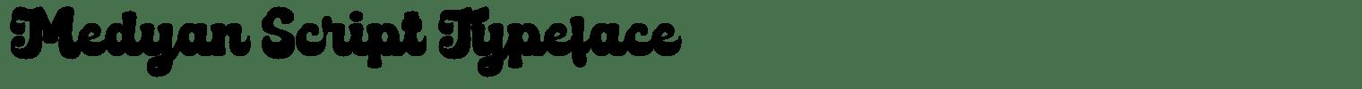 Medyan Script Typeface