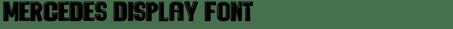 Mercedes Display Font