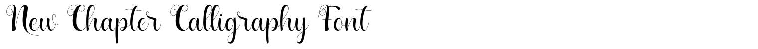 New Chapter Calligraphy Font