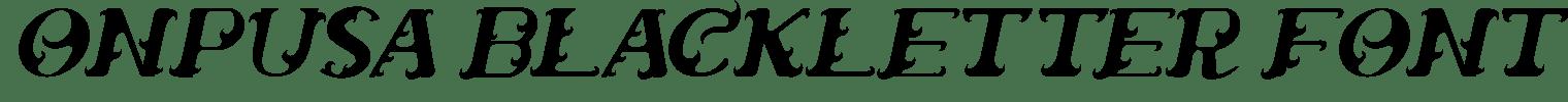 Onpusa Blackletter Font