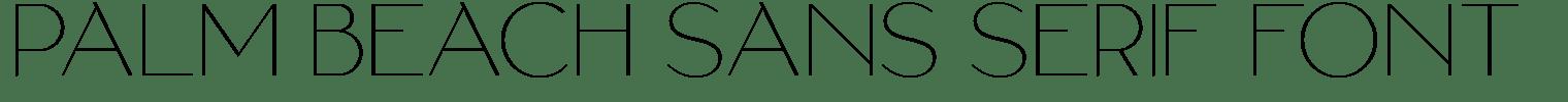 Palm Beach Sans Serif Font