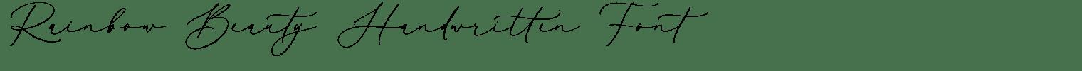 Rainbow Beauty Handwritten Font