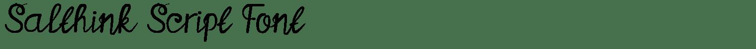 Salthink Script Font