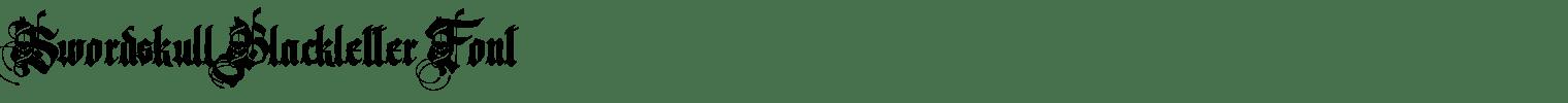 Swordskull Blackletter Font