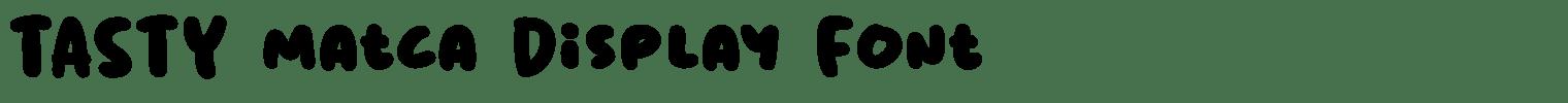Tasty Matcha Display Font