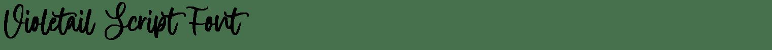 Violetail Script Font