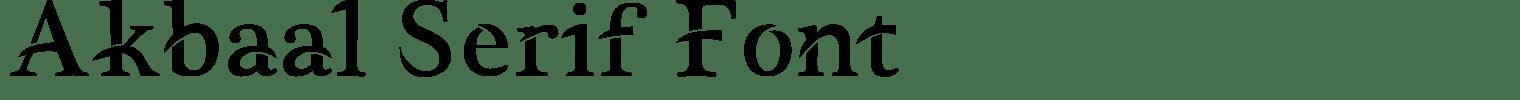 Akbaal Serif Font
