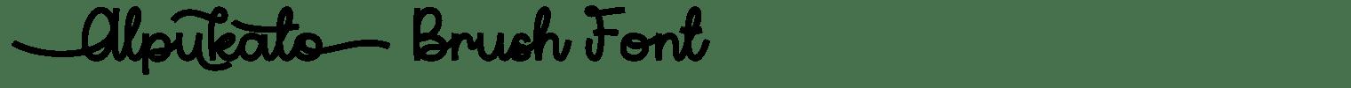 Alpukato Brush Font